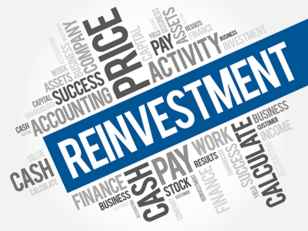 image of words dividend reinvestment