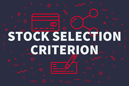 image with words saying stock selection criterion to manage risk