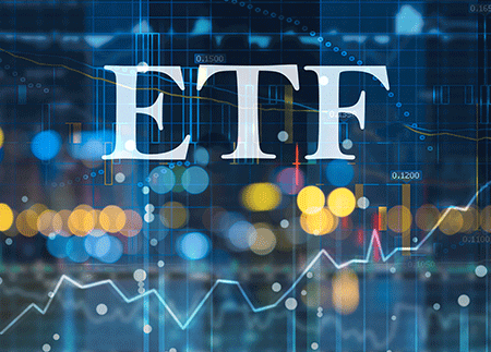 image of a stock with the words ETF