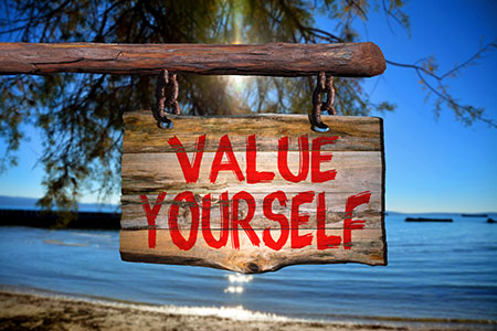 sign saying value yourself